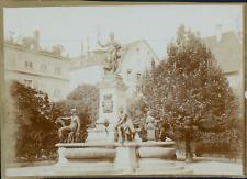 Allemagne, Fontaine, ca.1900, Vintage citrate print Vintage citrate printCet
