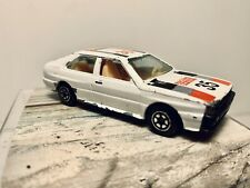 Vintage Yatming Audi Quattro Rally 1/64 Diecast #1035 White #35 Racing Sport