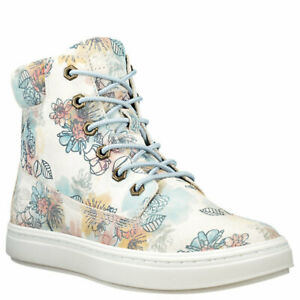 """Women's Timberland LONDYN 6"""" SNEAKER BOOTS, FLORAL Sued TB0A1X46 T67 Multi Sizes"""