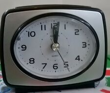 Silver / Black Amplus Alarm Clock No Tick. Clear Display Snooze Function PT160