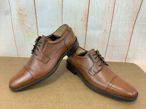 Johnston & Murphy Men's Size 9M 20-6900 Lancaster Cap Toe Brown Leather $139