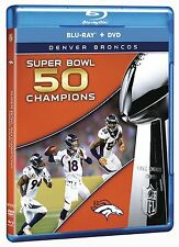 NFL SUPER BOWL 50 CHAMPIONS : DENVER BRONCOS - Blu Ray - Sealed Region free