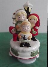 Vintage Christmas Children Carolers Music Box Figurine 1982
