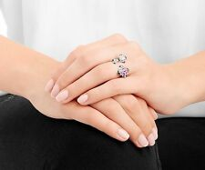 Swarovski Cherie Open Ring, size: M Flowers ink/Clear crystal Authentic 5139720