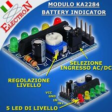 MODULO KA2284 module level e battery indicator, livello audio, VU-Meter ARDUINO