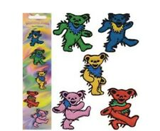 "Grateful Dead Dancing Bear 5 Piece Set Iron On Patches 1 1/4"" x 1 1/2"" PH0014"