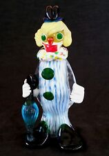 Vintage Venetian J. L Co Murano Italy hand blown glass Clown, 7.5 inches