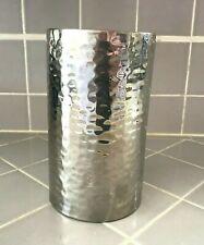 """Mid Century Modern Hammered Steel Wine Bottle Chiller Cooler Holder Signed """"K"""""""