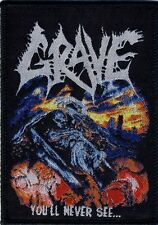 GRAVE - You´ll Never See... - Woven Patch / Aufnäher