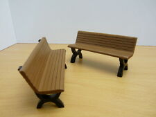 SET 2 BANCS marron 1/18