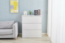 Lateral File Cabinet With 3 Lock Drawer White Metal Lateral File Storage Cabinet