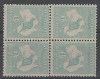 Australia 1920 3rd Wmk 1/- Blue-Green, SIDEWAYS WATERMARK (AU16)