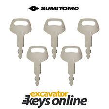 Sumitomo & Case S450 Excavator Key ( Set of 5) Excavator Grader