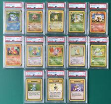 WOTC Pokemon Cards, Base Set Bundle. 1999 PSA, Including Blastoise!