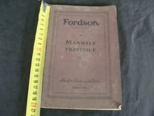 TRATTORE MANUALE USO MANUTENZIONE TRATTRICE FORDSON FORD MOTOR OLD TRACTOR