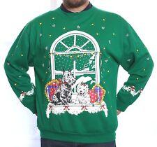 *VTG SCOTTIE & WESTIE DOGS UGLY CHRISTMAS SWEATER SWEATSHIRT LG/MEN WMN/XL