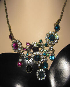 BETSEY JOHNSON MYSTIC BAROQUE BLING NECKLACE