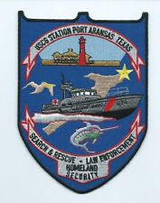 United States Coast Guard USCG patch, Port Aransas, TX. 5-7/8X4-1/4 in