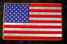 REFLECTIVE usa flag NIGHT VISION AMERICAN FLAG 11 INCH  PATCH