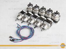 (US)Planetary Gearbox stepper motor Nema 17 1.3A ,40MM, Gear ratio 5.18:1 ,2N.M