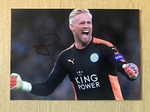 Kasper Schmeichel Leicester City Signed Photo Football