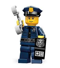 Lego collectable series 9 minifig City Policeman with police badge hat uniform