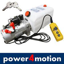 Hydraulikaggregat 4L, Hydraulik Pumpe 12 V 180 bar 2000W LKW, Kipper, Anhänger