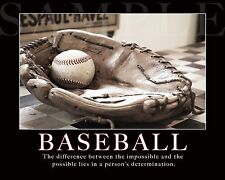 Baseball Photograph Saying Picture 8X10 New Fine Art Print Photo Quote Poster
