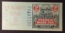 Ohio State Revenue, 2 cents Sales Tax Entire, Columbian Bank Note #FH-A-5739, OH
