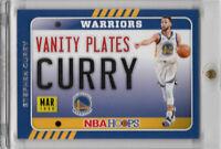 2020-21 NBA Hoops Stephen Curry Vanity Plates Insert Golden State Warriors