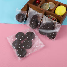 100x Gift Candy Bag for Wedding Birthday Cookies Biscuit Packaging Self-adhesive