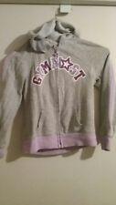 Girls 6 Justice Gymnast Hoodie Zip Up Sweatshirt Jacket PLAY Condition Gray Used