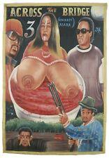 Cinema Movie poster Ghana African Art hand painting canvas ACROSS THE BRIDGE 3