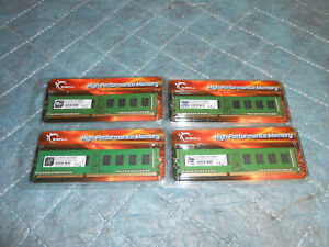 4 X G Skill F3-10600CL9S-2GBNS  DDR3-1333MHz CL9-9-9 1.50V 2GB (1x2GB) Modules