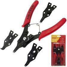 4-IN-1 SNAP RING CIRCLIP PLIER SET INTERNAL EXTERNAL WITH SPRING LOADED HANDLE