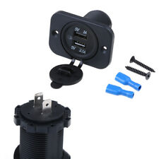 Dual 2 USB outlet 2.1A port socket charger for car boat motorcycle12volt`CPUK