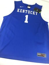 NWT Nike NCAA Kentucky Wildcats Blue Basketball Jersey Youth L Large