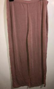 LOGO Luna Lori Goldstein Pull-On Knit Lounge Soft Pants Size Small