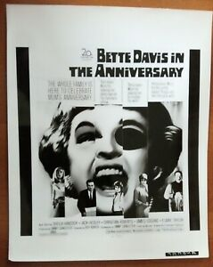 POSTER ART PRESS PHOTO THE ANNIVERSARY Bette Davies (image 1)