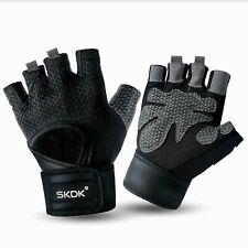 SKDK Workout Gloves Fitness Gloves Wrist Support Belt Gym, Crossfit M