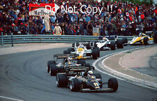 Elio De Angelis & Nigel Mansell Lotus 95T French Grand Prix 1984 Photograph