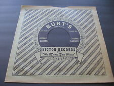 78RPM Victor 12 inch custom paper sleeve for Burt's Records, Cleveland no record
