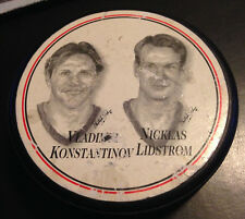 1997 DETROIT RED WINGS BURGER KING COLLECTORS PUCK - Konstantinov/Lindstrom