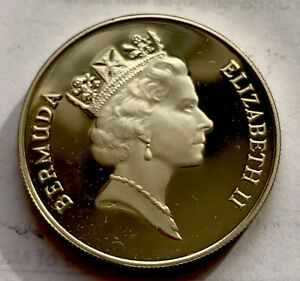 BERMUDA SILVER 1 DOLLAR 1985