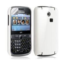 Housse étui coque rigide brillante pour Samsung Chat 335 S3350 couleur blanc