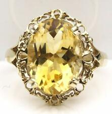 14x10mm Oval Citrine Ring 9ct Gold British Made & Hallmarked Free P&P Ideal Gift