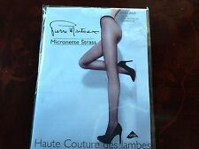 PIERRE MANTOUX TIGHTS  MICRONETTE STRASS BLACK SZ-II/M