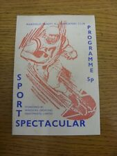 25/07/1971 Rugby League Programme: Wakefield Trinity Sports Spectacular - 7-A-Si
