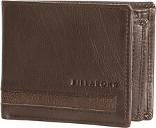 BILLABONG MENS WALLET.EMPIRE REAL LEATHER BROWN SNAP NOTE/COIN PURSE 7W W02 5631