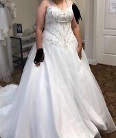 Wedding Dress White size 20W unaltered